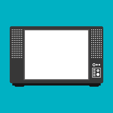 tv retro: tv retro vintange black isolated vector illustration Illustration