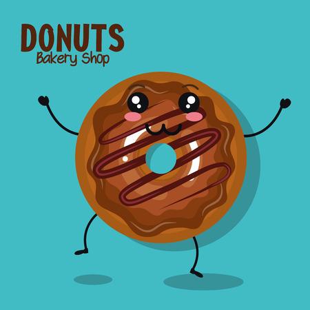 icon donut cream chocolate graphic vector illustration