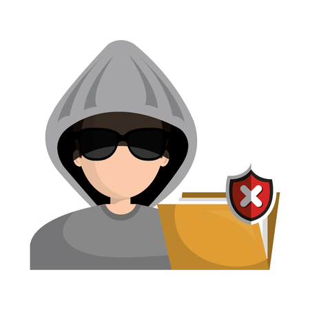 hacked: hacked warning file graphic isolated vector illustration