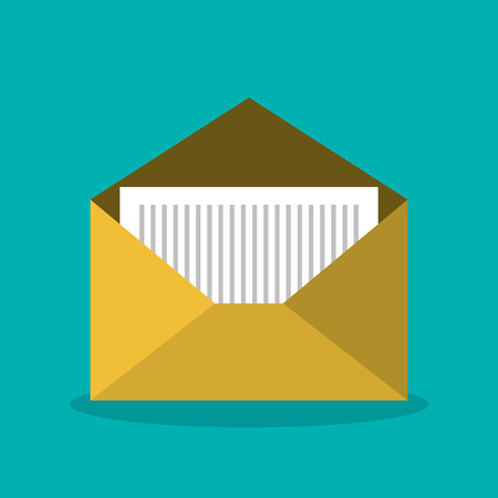 message email envelope icon design vector illustration Illustration