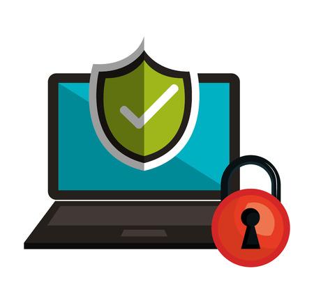 symbol technology secure safety design vector illustration