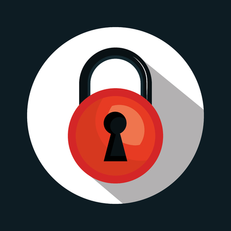 shielding: warning secure password system graphic vector illustration