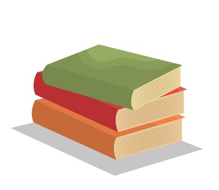 cartoon books pile school design vector illustration Illustration