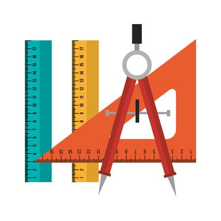 set tool school design isolated vector illustration Illustration