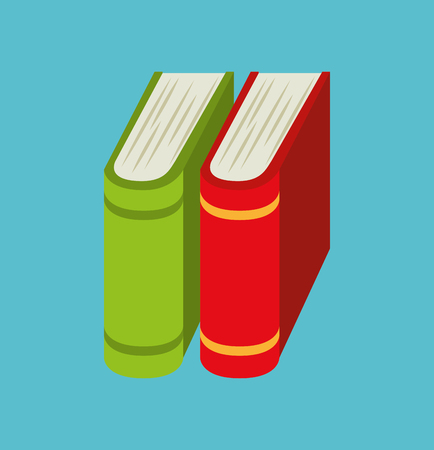 cartoon books pile school design vector illustration eps 10