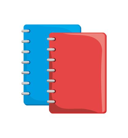 spiral notebook: cartoon notebook orange with spiral design vector illustration eps 10