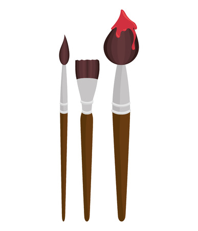 collection brush paint design vector illustration eps 10 Illustration