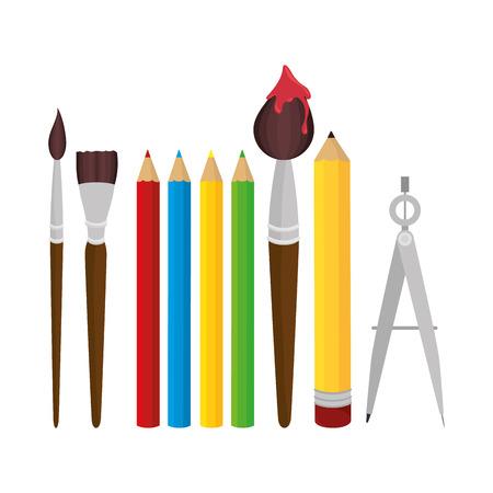 set elements school tolls design vector illustration eps 10