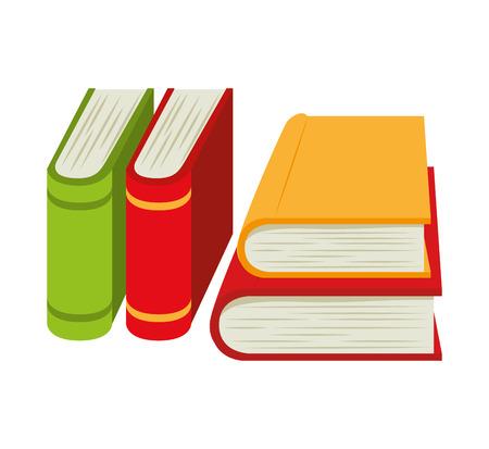 pile books: cartoon books pile school design vector illustration eps 10