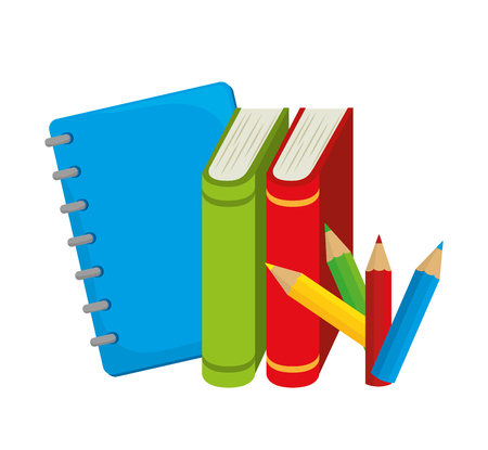 books colors study school desing vector illustration eps 10