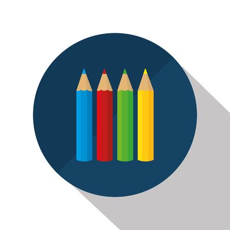 colors paint: set colors school paint design vector illustration eps 10