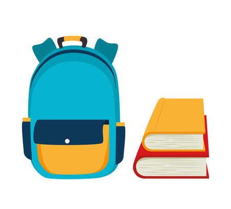 backpack school: backpack school bag design vector illustration eps 10