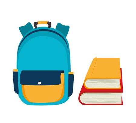 vecteur de conception sac à dos école illustration eps 10