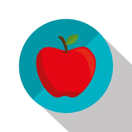 cartoon apple school design graphic vector illustration eps 10