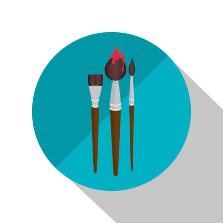 collection brush paint design vector illustration eps 10 Illustration