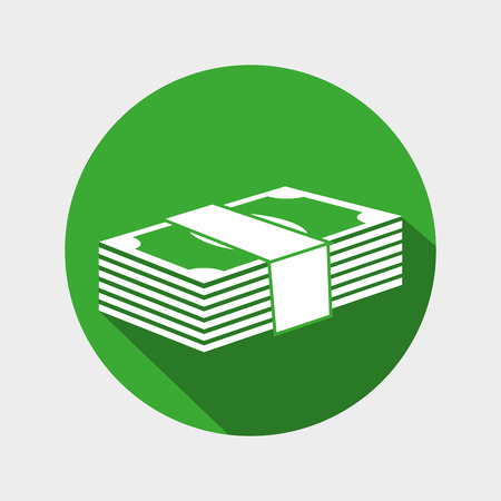 wad: money bills wad icon design vector illustration eps 10