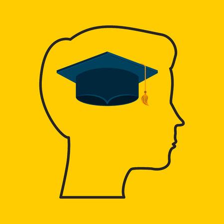 university student: university student graduation icon vector illustration design