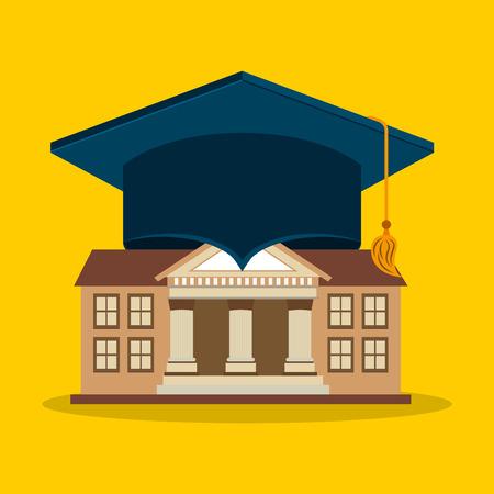 scholarship: university emblem education icon vector illustration design Illustration