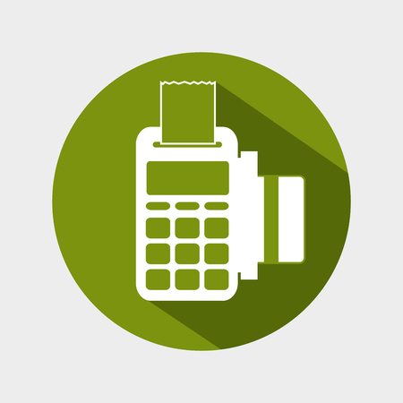 registros contables: dataphone credit card money icon design vector illustration eps 10