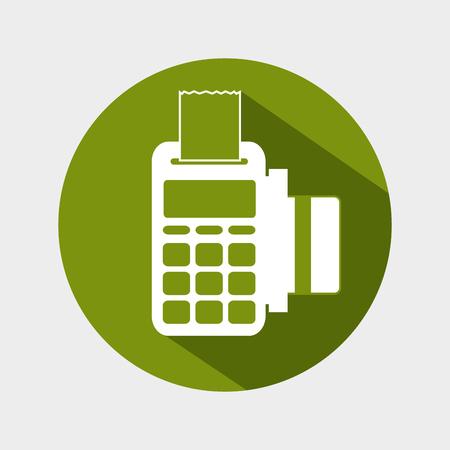 dataphone credit card money icon design vector illustration eps 10