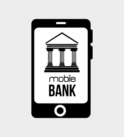 mobil: mobil bank virtual money isolated vector illustration Illustration