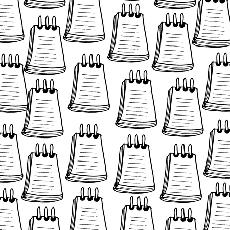 notepaper: notepaper office object background. drawn design. vector illustration
