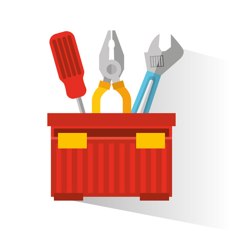 construction tools equipment icon vector illustration design Illustration