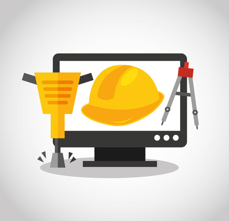 web page under construction: web page under construction vector illustration design