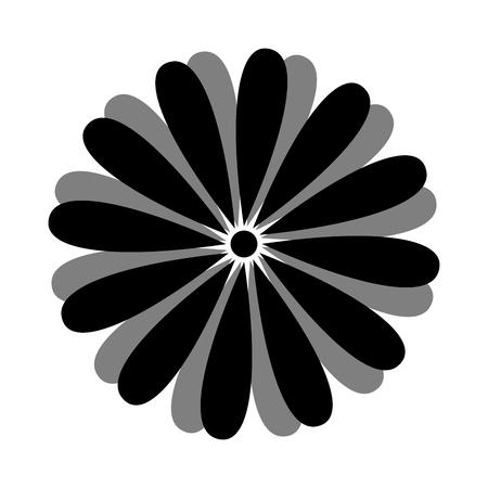 silhouette fleur: belle fleur floral plante naturelle décoration silhouette. illustration vectorielle