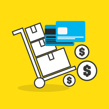 credit card with commerce icon vector illustration design