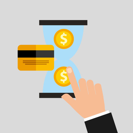 e pay: credit card with commerce icon vector illustration design
