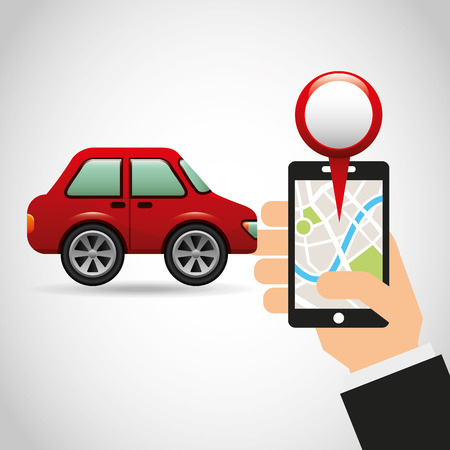 electronic device with gps service vector illustration design Illustration