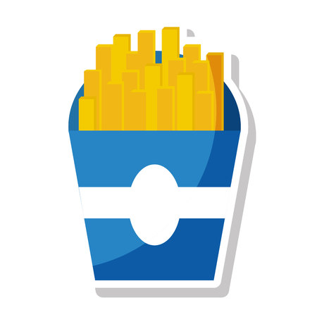 delicious french frieds fast food icon vector illustration design