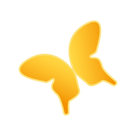 silhouette papillon: forme de papillon jaune. bel insecte animal. illustration vectorielle