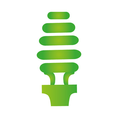 green bulb: green bulb economy light power energy object. vector illustration