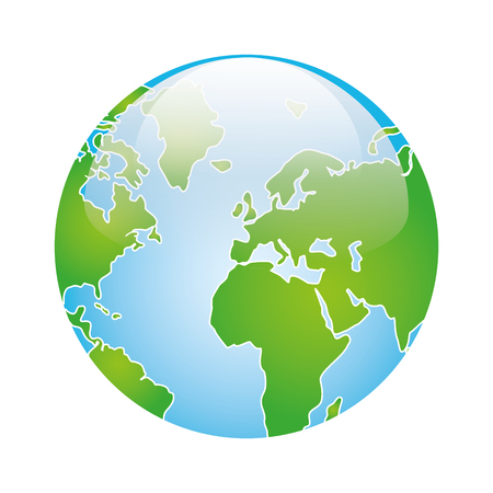 geography: earth planet globe. geography element world sphere. vector illustration