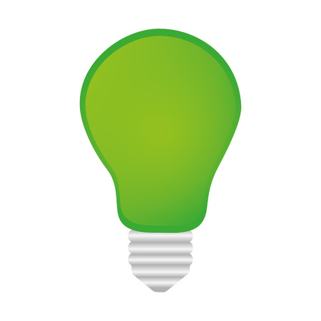 green bulb: green bulb light power energy object. vector illustration