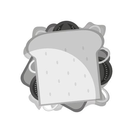 sandwish: delicious sandwish fast food icon vector illustration design