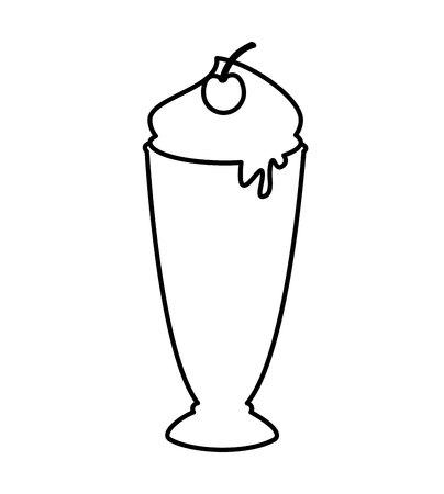 milk shake: delicious milk shake icon vector illustration design Illustration