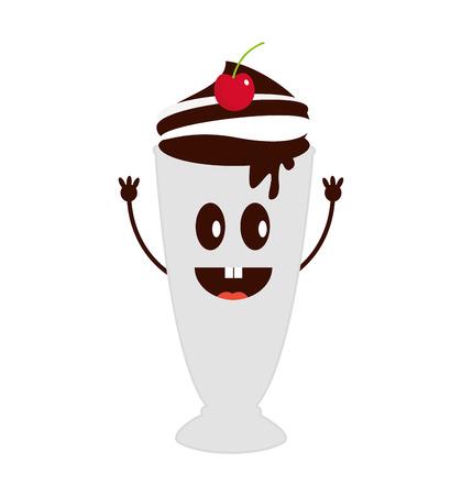 delicious milk shake icon vector illustration design Illustration