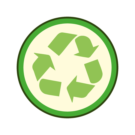 green recycle symbol stamp. eco environmental sign. vector illustration