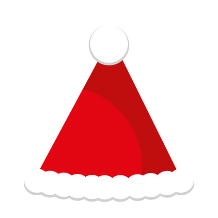 christmas hat decoration isolated icon vector illustration design