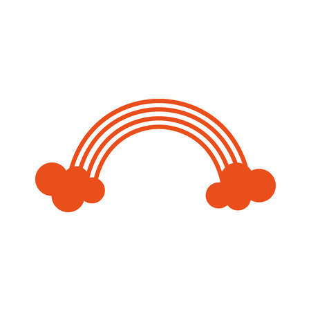 rainbow cloud orange color stripe spectrum curve nature light vector illustration