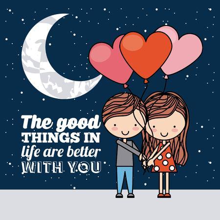 love romantic card isolated vector illustration design