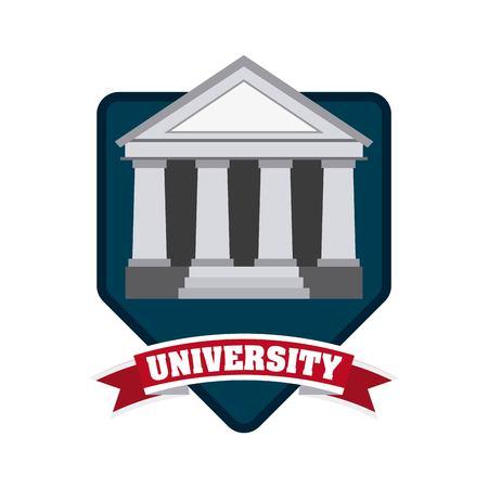 abstract academic: university emblem concept icon vector illustration design