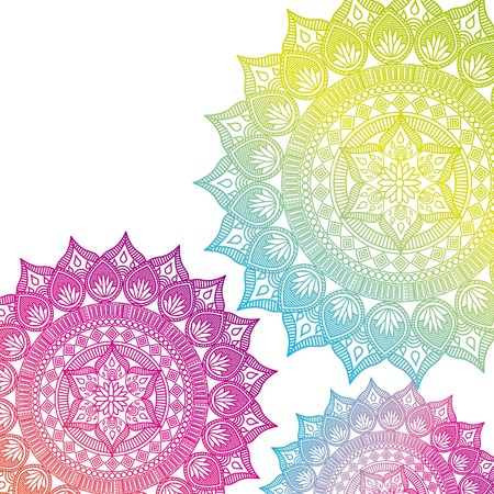 mandala india culture icon vector illustration design