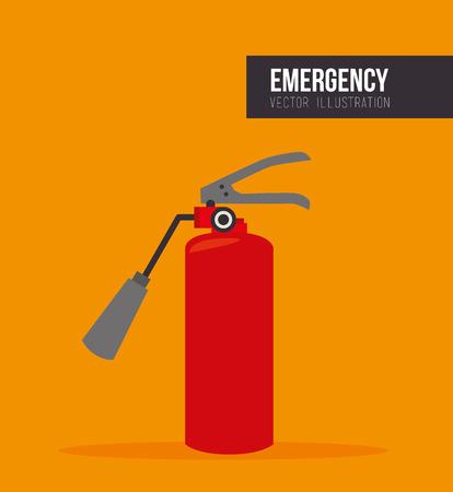 red extinguisher bottle. emergency equipment. vector illustration