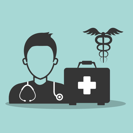 Avatar Medical Man Doctor With Stethoscope And Medicine Icon