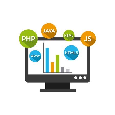 programmation de logiciels concept design icône vecteur illustration Vecteurs