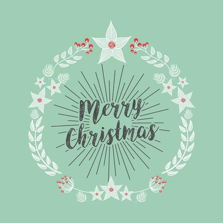 december: merry christmas holiday december vector illustration design Illustration